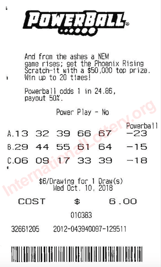 powerball ticket scan