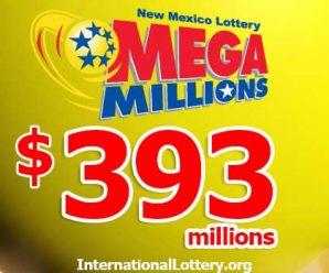 Mega Millions jackpot increased to $393 million
