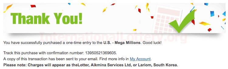 buy mega millions ticket online