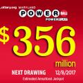 Powerball Jackpot jumps to $356 million