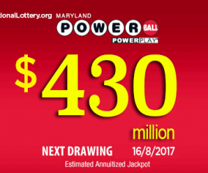 Powerball jackpot increased to $430 million