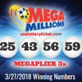 MEGA MILLIONS LOTTERY DRAW RESULTS OF 27/03/2018: 2 LUCKY PLAYERS BECOME MILLIONARIRES QUICKLY