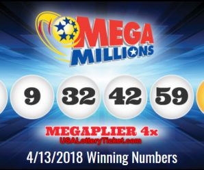 Mega Millions Lottery Draw Results OF 04/13/2018: Just One Lucky Player Become Millionaire