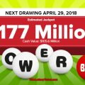 Powerball  Lottery  Draw Results Of  04/25/2018: There are 2 Lucky Winners Becoming Millionaires