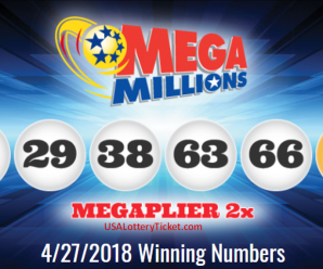 Mega Millions Lottery Draw Results Of 04/27/2018: 2 Lucky Player Become Millionaire