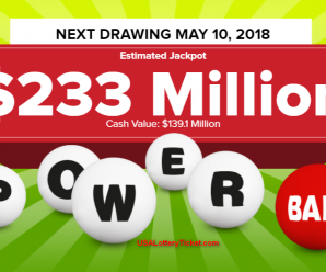 Powerball Lottery Draw Results Of 05/05/2018: There are two Lucky Player Becoming Millionaire
