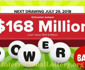Powerball rises to $168 million for Saturday, July 28, 2018