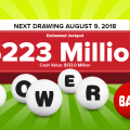 With no winners, Powerball jackpot rises to $223M for Wednesday, 8/8/2018