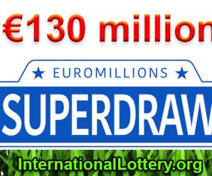 Next EuroMillions €130M Superdraws: Friday 21st September 2018