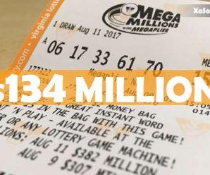 Mega Millions jackpot rises to $134 million; next drawing is Tuesday