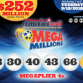 Mega Millions jackpot rise to $252M for Tuesday, 18 September 2018