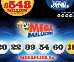 Mega Millions rises to $548M: The third largest jackpot in Mega Millions history