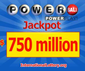 Following the Mega Millions, Powerball Jackpot rises to $ 750 million