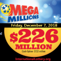 Mega Millions drawing results on 4 December 2018 – Jackpot up to $226 Million