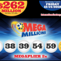 $1 Million Winner of December 11 Drawing and Mega Millions Surges To $262 Million