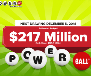 Nobody won jackpot, PowerBall Climbs To $217 Million For The Next drawing