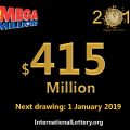 Seven Million Dollar prizes, Mega Millions starts 2019 with $415 million jackpot