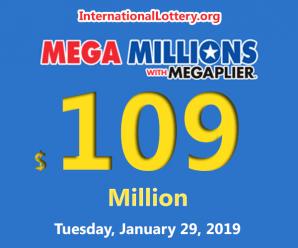 Mega Millions results for 19/25/01 – Jackpot reaches $109 million
