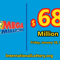 The Mega Millions jackpot continue to rise reaching $68 million