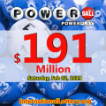 One ticket got $1 million; Powerball jackpot conquers $191 million