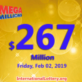 Mega Millions numbers for Feb.26; Jackpot increases to $267 million