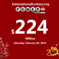 Powerball lottery: 2 Second prizes awarded on Wenesday, Feb.06, 2019