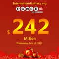 Four lucky mans became millionaires; Powerball up to $242 million