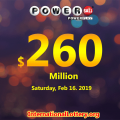 No winner today, Powerball jackpot increases to $260 million