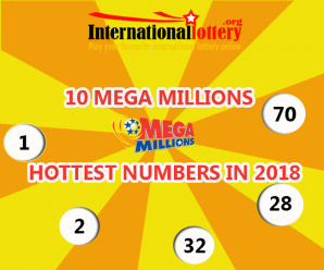 Top 10 Mega Millions Hottest numbers in 2018