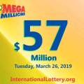 Mega Millions stands at $57 million: 2 man got the second prize