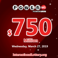 Numerous awards appeared: Powerball jackpot soars up to $750 million