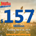 Mega Millions jackpot is warmer; it is $157 million now