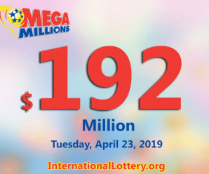 One man won $1 million: Mega Millions jackpot rises up to $192 million