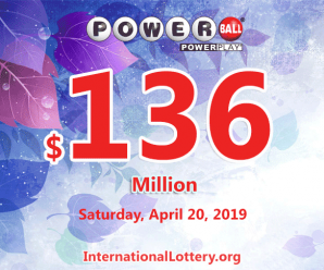 Powerball results for 19/04/17: Jackpot is $136 million now