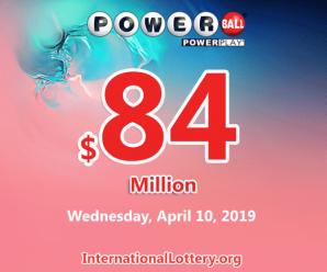 One Powerball ticket won $1 million: Jackpot stands at $84 million