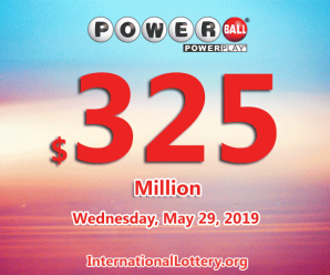 No winner of Powerball jackpot; 3 second prizes on Saturday 25 May, 2019