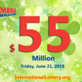 Jackpot Mega Millions is $55 million after the drawing on June 18, 2019