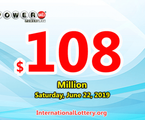 Powerball rolls over to $108 million for June 22, 2019