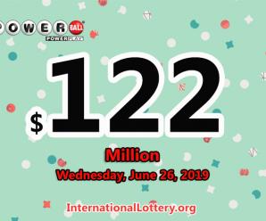 Powerball stands at $122 million: 3 men won $1 million on June 22, 2019