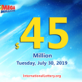 Mega Millions jackpot raises to $45 million for July 30, 2019