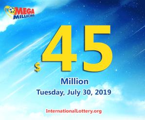 Mega Millions jackpot raises to $45 million for July 30, 2019