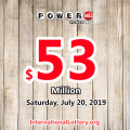 Powerball results for 19/07/17: Jackpot raises to $53 million