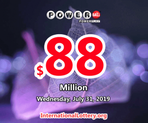 Three-second prizes, Powerball jackpot rolls to $88 million