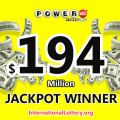 $194 million jackpot of Powerball lottery found the owner