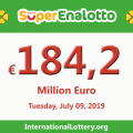 SuperEnalotto jackpot raises continuously to 184.2 million euro