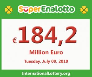 SuperEnalotto jackpot raises continuously to 184.2 million euro