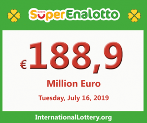 SuperEnalotto lottery becomes hotter with jackpot 188,9 million Euro