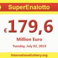 SuperEnalotto lottery surpasses to €179.6 million euro