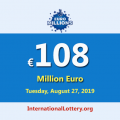 The next EuroMillions jackpot will be worth €108 million euro