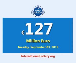 EuroMillionsJackpot is €127 million euro – the biggest jackpot in the world